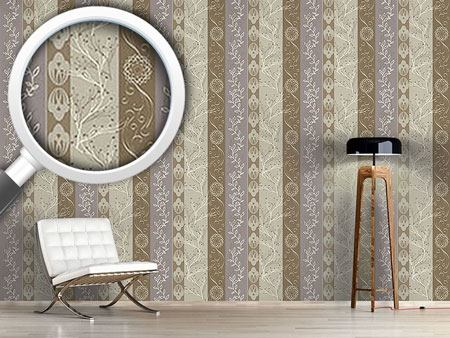 Design Wallpaper Rural Stripes Clay