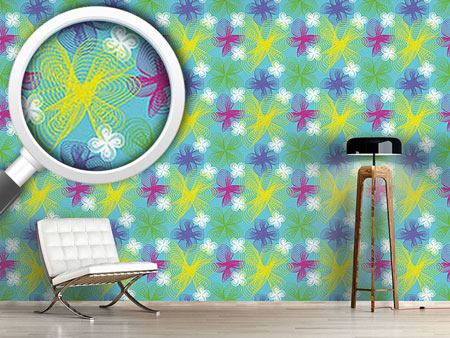 Design Wallpaper Spiral Flowers