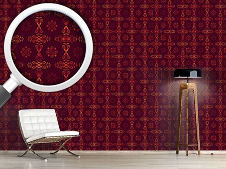 Design Wallpaper Renaissance Crystal Red