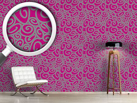 Design Wallpaper Beginning And End Magenta