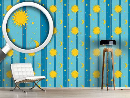Design Wallpaper Sun, Moon and Stars