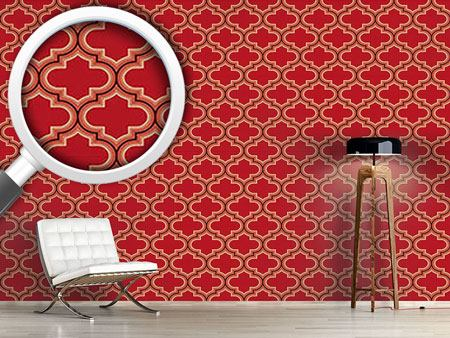 Design Wallpaper Retro Morocco Red