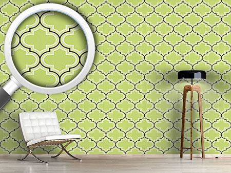 Design Wallpaper Retro Morocco Green