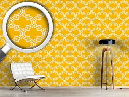 Design Wallpaper Retro Morocco Yellow