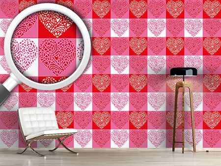 Design Wallpaper Hearty Red