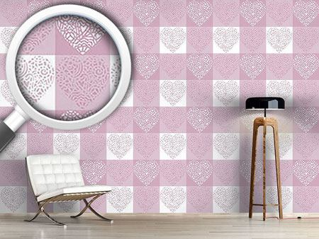 Papier peint design Hearty Lilac