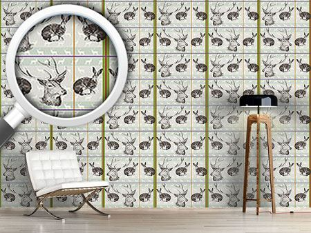 Design Wallpaper Where Stag And Hare