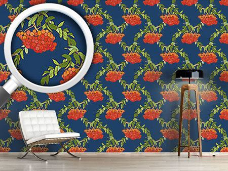 Design Wallpaper Rowan Blue