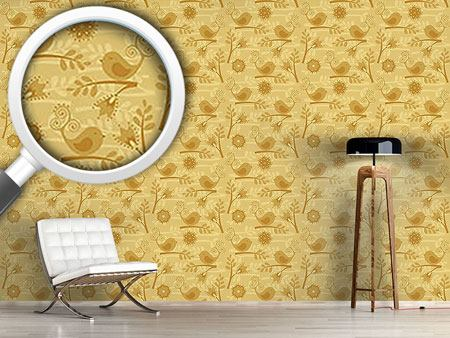 Design Wallpaper Golden Birdsong