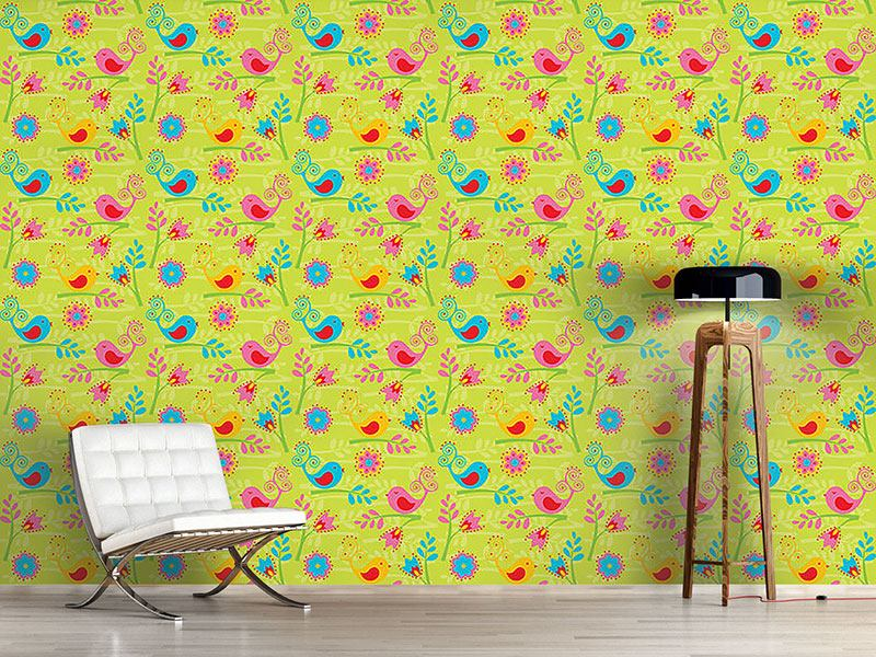 Papier peint design Colorful Birdsong