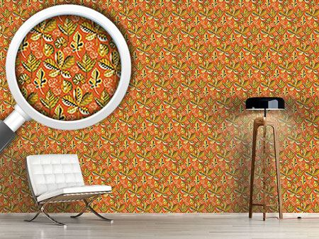 Papier peint design Golden Leaves Sunset