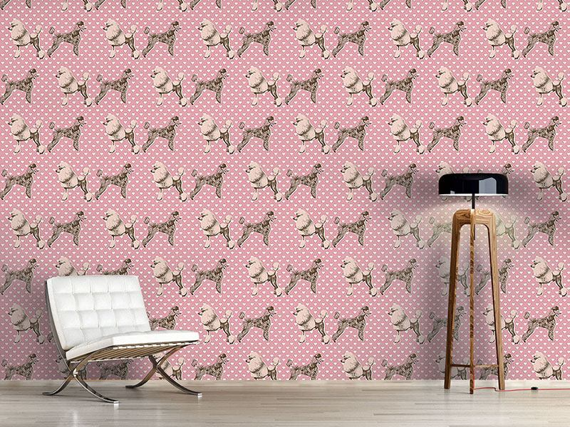 Design Wallpaper Poodles With Heart