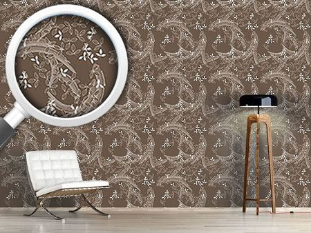Design Wallpaper Buschklee Brown