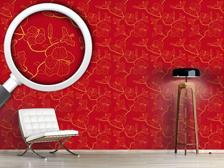 Design Wallpaper Hibiscusdream In Red