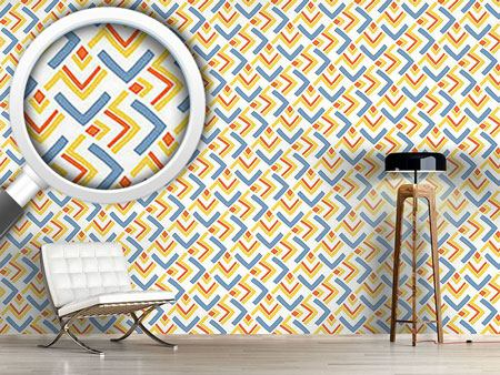 Design Wallpaper Boomerang Blue