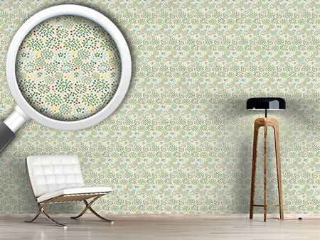 Design Wallpaper Bushes And Dots