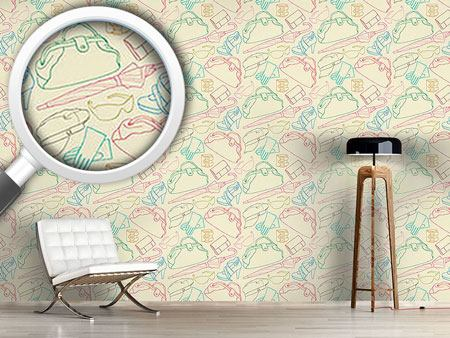 Design Wallpaper Sketch Clothes Illustrations