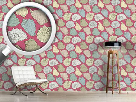 Design Wallpaper Vintage Seashells