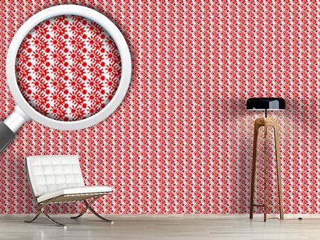 Papier peint design Fireworks Red
