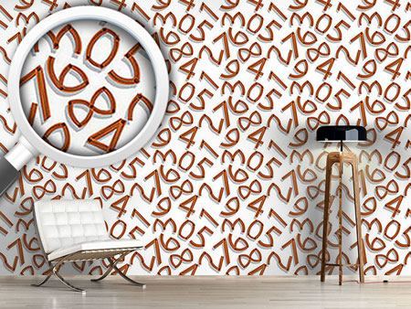 Design Wallpaper Wooden Numbers