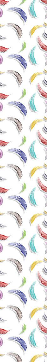 Papel tapiz de diseño Colorful Feather Pattern