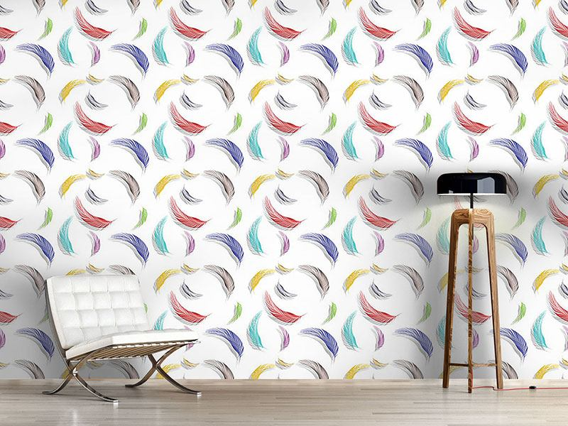 Papier peint design Colorful Feather Pattern