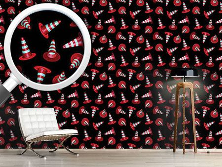 Design Wallpaper Dancing Traffic Cones