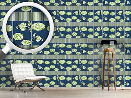 Design Wallpaper Paravent Floral