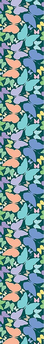 Design Wallpaper Butterflies In Blue