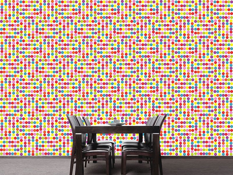 Design Wallpaper Dotted Labyrinth