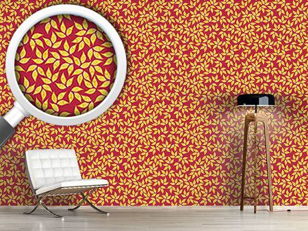 Design Wallpaper Golden Leaf