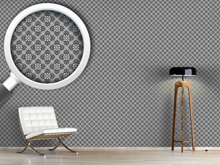 Design Wallpaper Bloom Grey