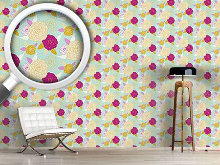 Design Wallpaper Pompon Rose