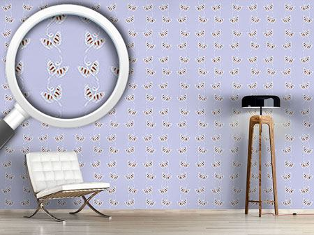 Design Wallpaper Attracting Butterflies