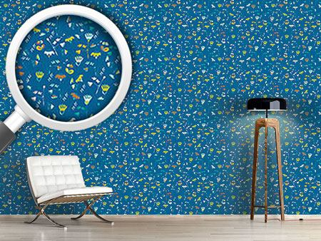 Design Wallpaper Fantasy In Blue
