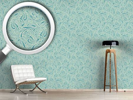 Design Wallpaper Copper Engraving
