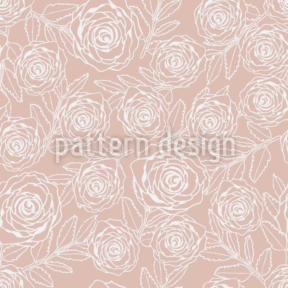 Papier peint design Rose Engraving