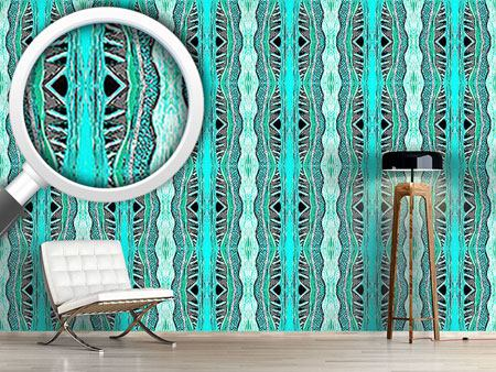Design Wallpaper Massai Turqoise