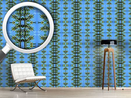 Design Wallpaper In The Blue Pinewood