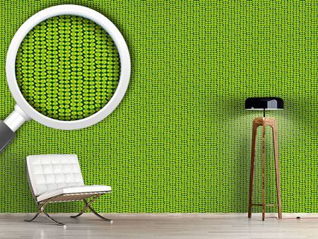 Design Wallpaper Leaf Green Retro