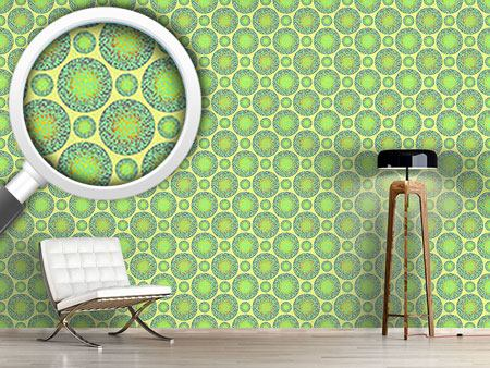Design Wallpaper Green Marbles