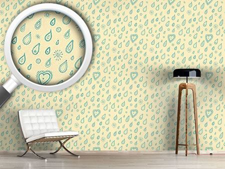 Design Wallpaper Yellow Summer Rain