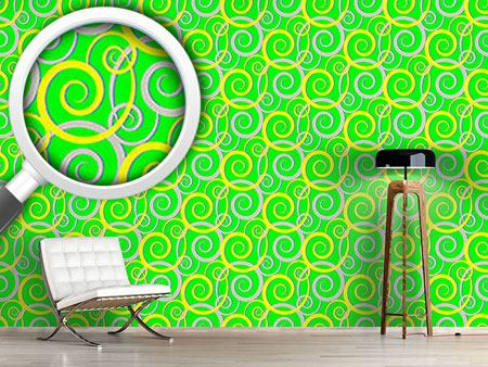 Design Wallpaper Curly Green