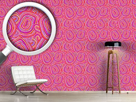 Design Wallpaper Pink Agate