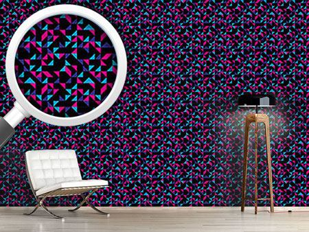 Design Wallpaper Retro Triangles