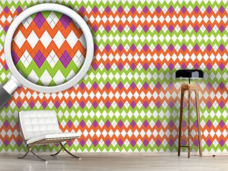 Design Wallpaper Zig Zag Pattern