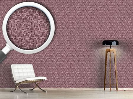 Design Wallpaper Polyps Mauve