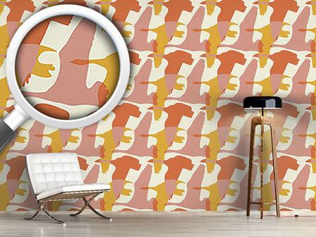 Design Wallpaper Flying Goose In The Sun