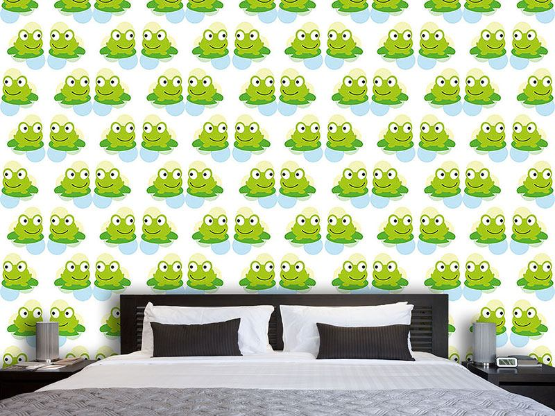Design Wallpaper Twin Frogs