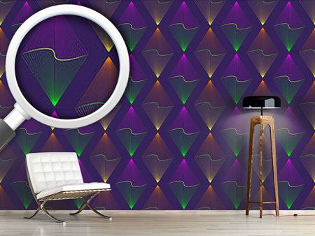 Design Wallpaper Purple Lanterns